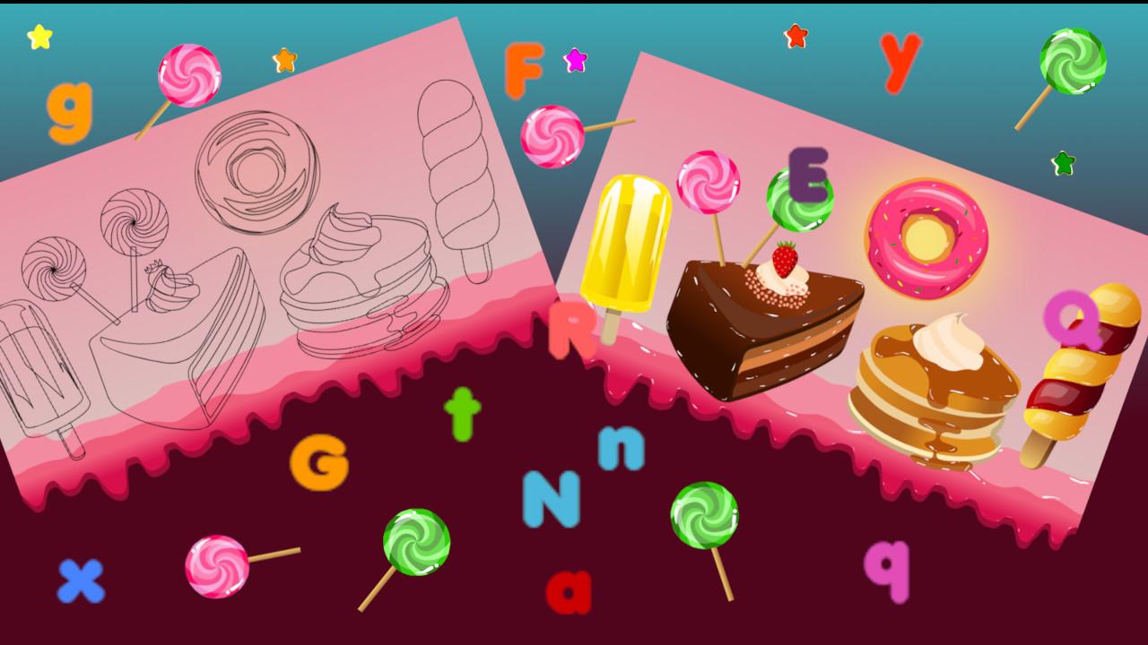 Image Candy Land Alphabet Letters