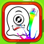 Coloring Book Alien Family