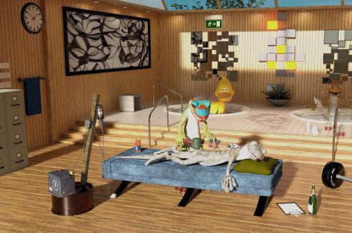 Image Hidden Spots in the Room