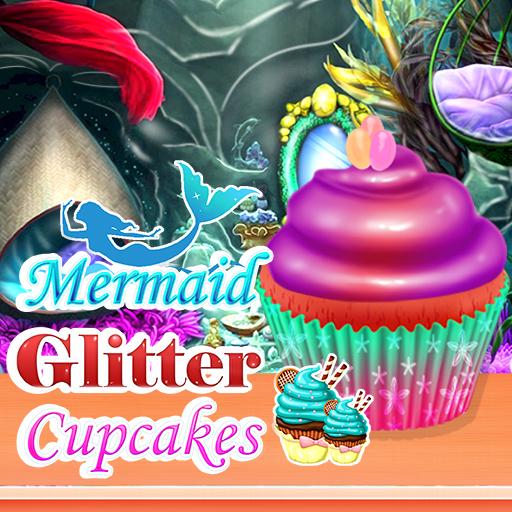 Image Mermaid Glitter Cupcakes