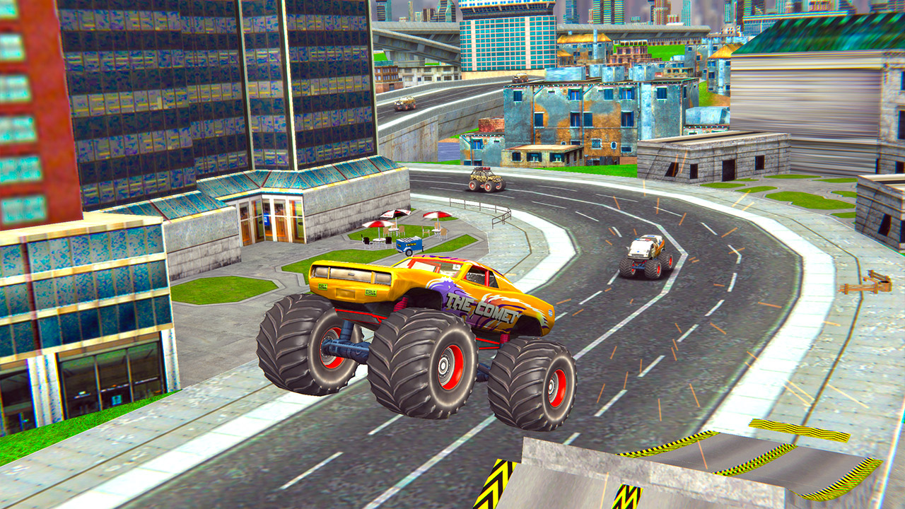 Image Monster Truck Stunts Free Jeep Racing Games