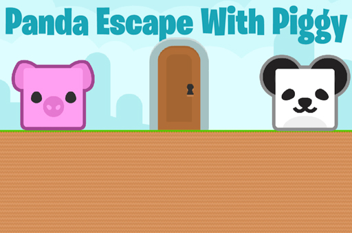 Image Panda Escape With Piggy