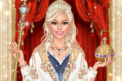 Image Queen Fashion Salon Royal Dress Up