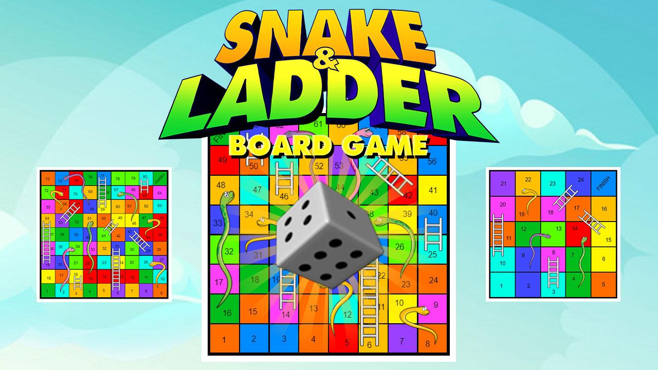 Image Snake and Ladder Board Game