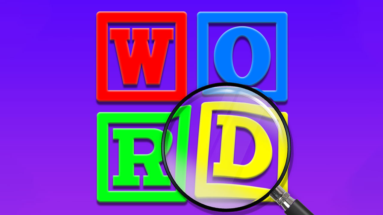 Image Word Finding Puzzle Game