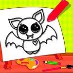 Easy Kids Coloring Bat