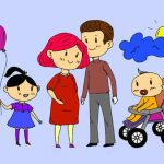 Happy Family Coloring Book